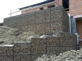 opěrné zdi - gabiony