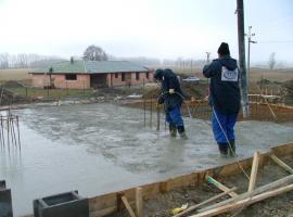 betonáž základů